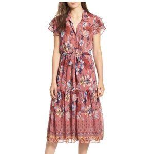 Misa - Violette floral Ruffle Dress